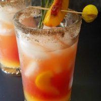 Super Refreshing Peach Rosemary Michelada