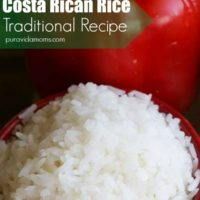 costa rican white rice in bowl