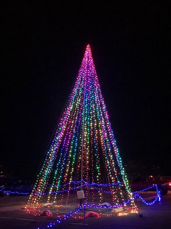 holiday light tree denver