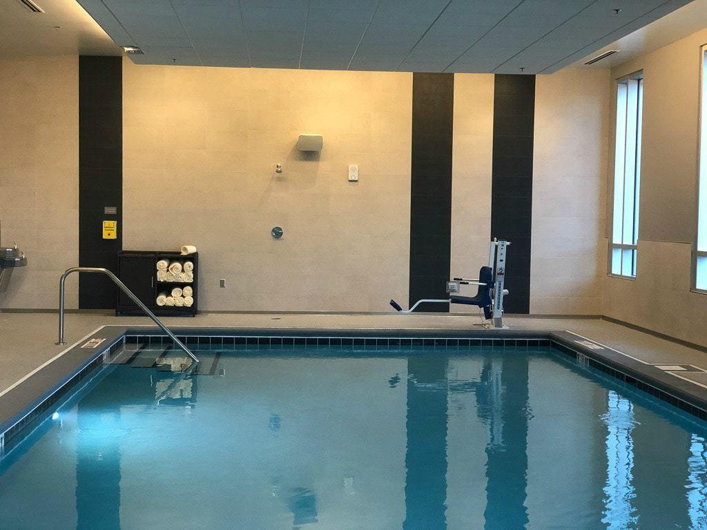 indoor pool at denver airport hyatt