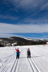 Cross country skiing at nordic center.