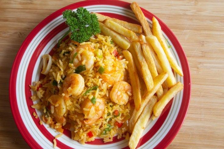 Costa Rican Shrimp and Rice Recipe - Arroz con camarones