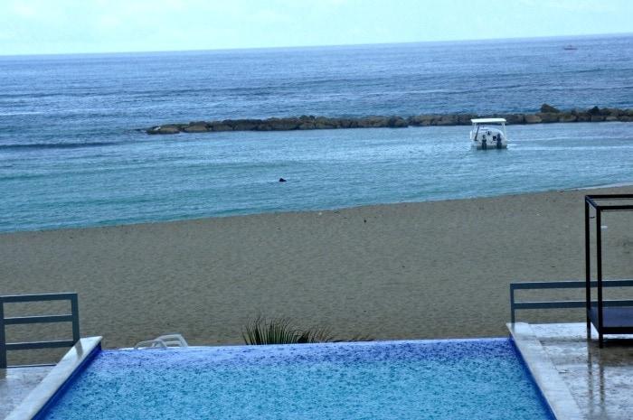 rain at Dominican Republic Juan Dolio Beach.