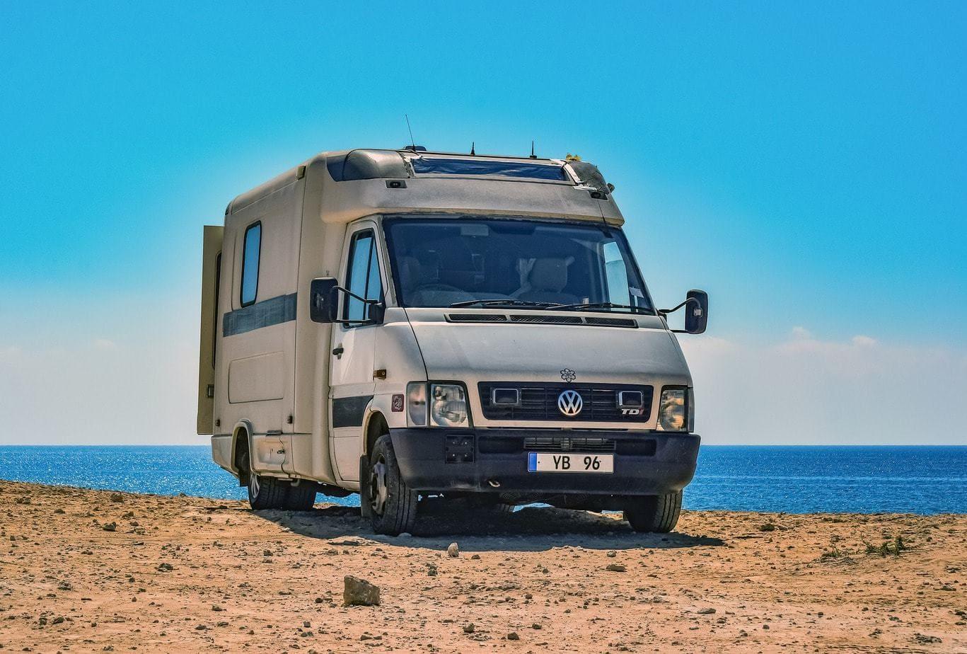 Volkswagen RV motorhome at California Beach