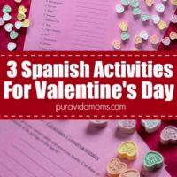 three activities to enjoy on Valentine's Day in Spanish.