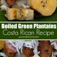 Costa Rican Boiled Plantains.