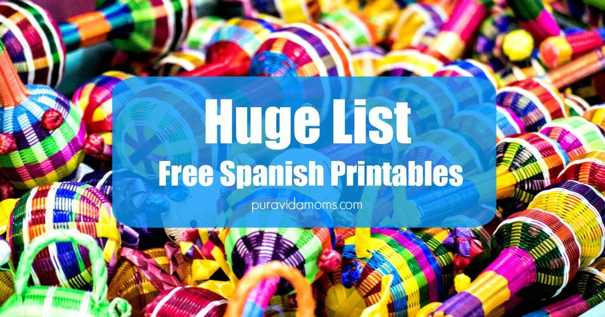 spanish language printables for parents and teachers