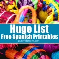 A ton of different crafts to make with Spanish printable.