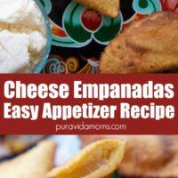 Cut empanadas on top of whole empanadas.