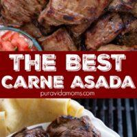 Carne Asada in a serving dish.