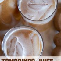 Three serving glasses of the Tamarindo Juice.