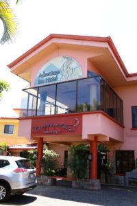 Adventure Inn airport hotel exterior San Jose.