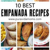 10 of the best empanada recipes in separate images.