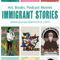 A list of immigrant stories with different varieties of images.