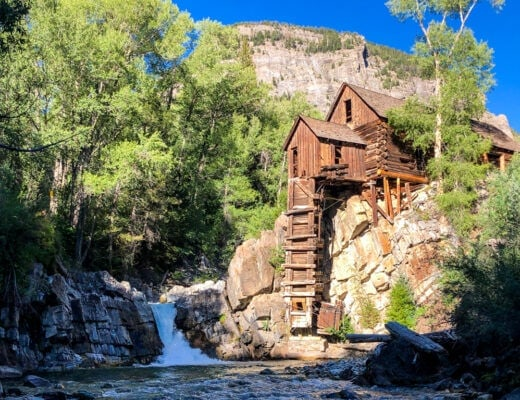 crystal mill and crystal river in summer
