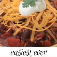 Easy Turkey Chili Recipe pinterest image