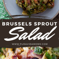 Brussels Sprout Salad Pin image
