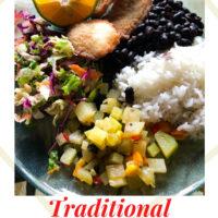 Traditional Costa Rican Casado Recipe Pinterest Image