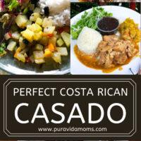 Costa Rican Casado Recipe pinterest image