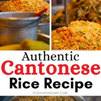 Cantonese Rice Recipe pinterest image