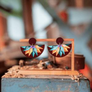 costa rican earrings half moon dangling jewelry.