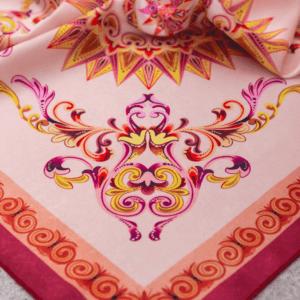 light pink close up of costa rican handkerchief.