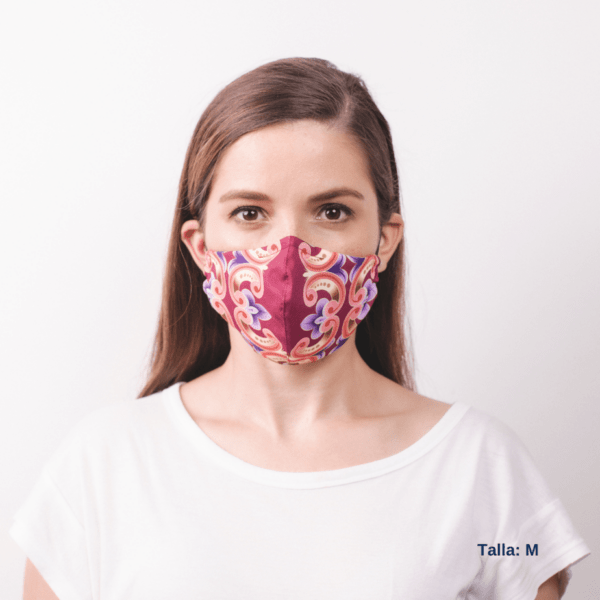 girl wearing costa rican designed facemask.