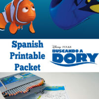 finding dory in spanish printable packet for kids.