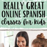 Online Spanish Classes For Kids pin