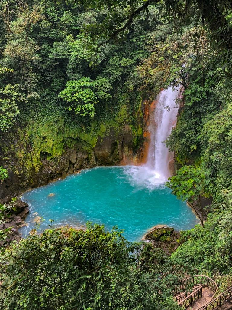 rio celeste waterfall in costa rica.