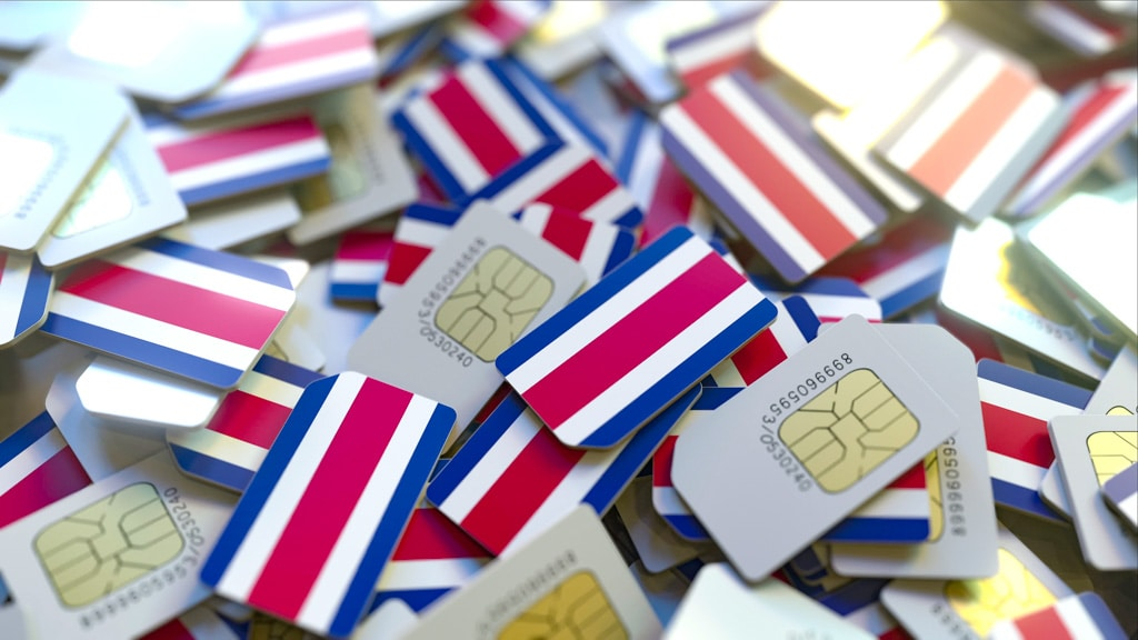 SIM cards laying together