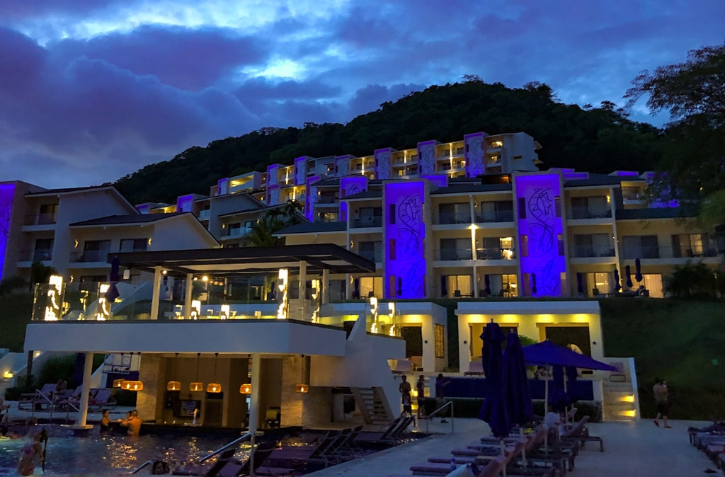 planet hollywood costa rica beach resport all inclusive at night