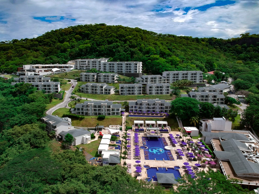 planet hollywood costa rica beach resport arial view