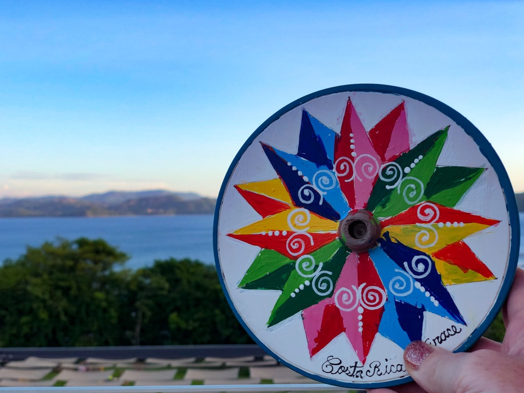traditional costa rican painted ox cart wheel souvenir