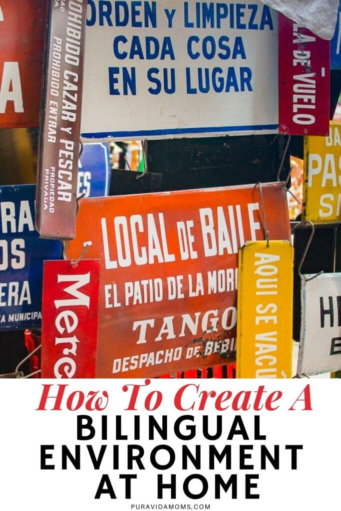How To Create A Bilingual Environment At Home pin